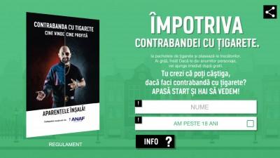 JTI - Campanie Anti-contrabanda - Joc Online