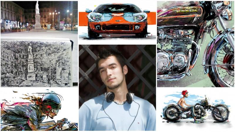 Petrisor Dutu, artist, derbedeu, motociclist: In toata nebunia asta cu arta, caut ceva si inca n-am aflat ce. Deriva imi asigura continuitatea si altceva nu ma intereseaza deocamdata