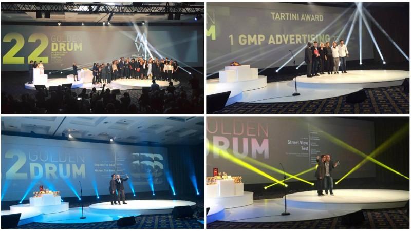 Golden Drum 2015 a insemnat 2 Grand Prix-uri, 8 premii Golden Drum si 10 premii Silver Drum pentru Romania. Agentia anului: McCann // MRM Romania. Agentia independenta a anului: GMP Advertising