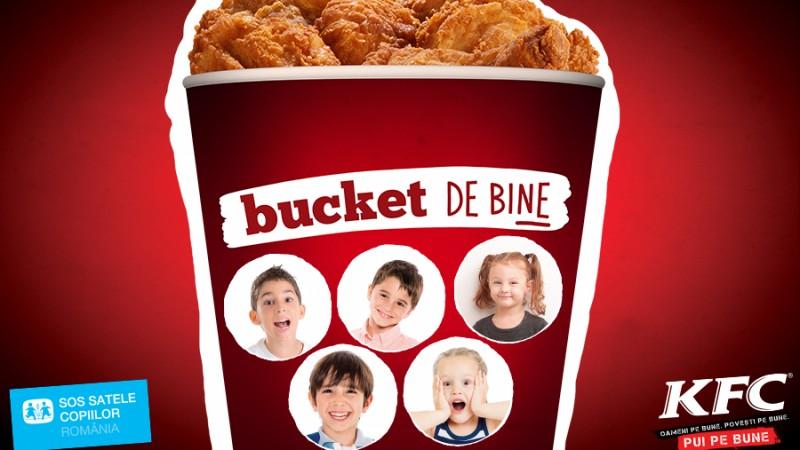 """""""Bucket-ul de bine"""" de la KFC a adus peste 30.000 de euro la SOS Satele Copiilor Romania"""