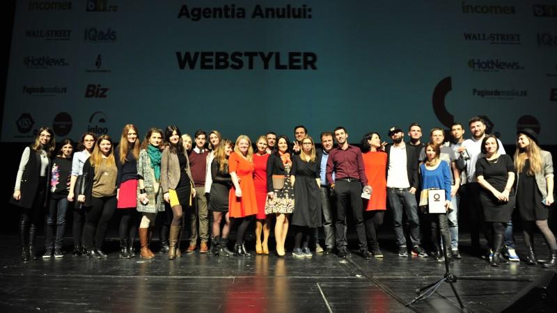 Webstyler castiga pentru a saptea oara Trofeul Internetics pentru Agentia Anului