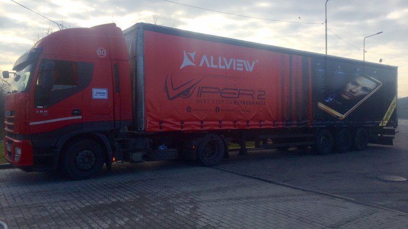 """Compania Generala de Publicitate"" lanseaza pentru brandul Allview, in premiera in Romania, prima campanie neconventionala de comunicare prin full branding de tiruri."