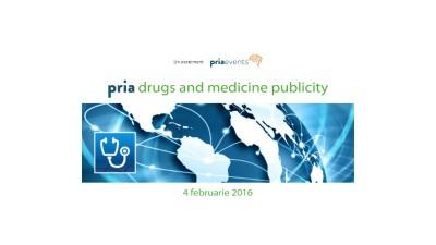 Legea publicitatii la medicamente in dezbatere la conferinta PRIA Drugs and Medicine Publicity