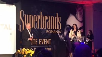 Brandul Gerovital a fost desemnat Superbrand 2015 la gala Tribute Superbrands