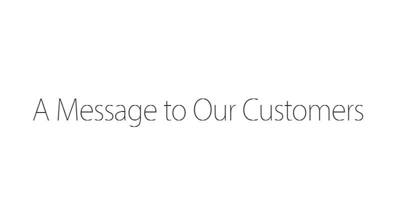 Un mesaj mai neobisnuit de la Apple, pentru clientii sai. Si FBI