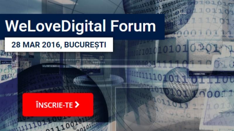 In 28 si 29 Martie 2016 la WeLoveDigital.forumafli in premiera cele mai hot tendinte care vor guverna industria digitala in 2016