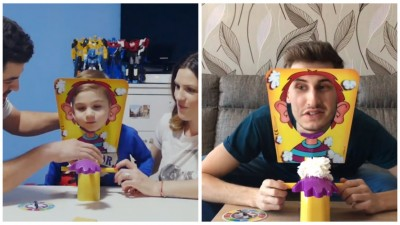 Vedetele din Romania au acceptat provocarea Pie Face lansata de Hasbro si Republika