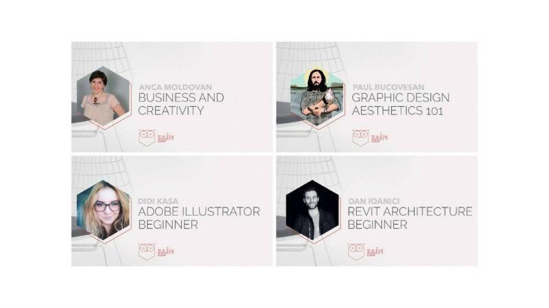 La ZAIN Academy ai de ales dintre 4 ateliere dedicate designerilor, arhitectilor, creativilor