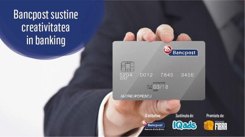 Bancpost te provoaca la o sesiune de creativitate in banking printr-o competitie de design de carduri din seria Young FIBRA