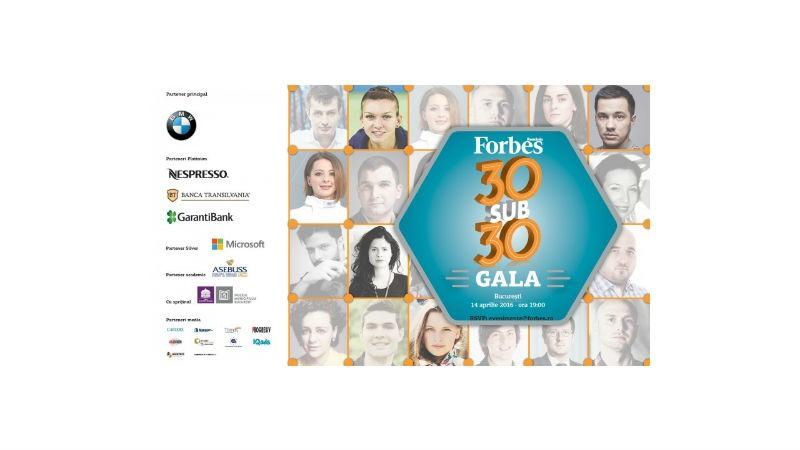 Gala Forbes 30 sub 30celebreaza si in 2016 liderii noii generatii