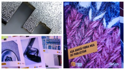 URSUS a pus sub microscop fibra de publicitar