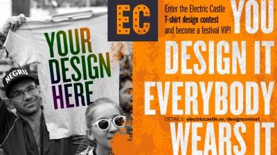 Propune un design pentru tricourile ELECTRIC CASTLE si traieste experienta VIP a festivalului