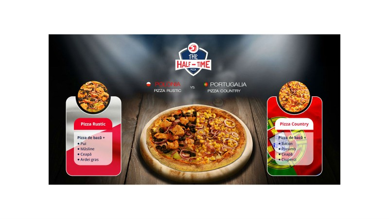Jerry's Pizza si Tribal Worldwide Romania lanseaza The Half-Time Pizza
