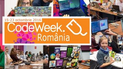 Saptamana Uniunii Europene a Programarii: CodeWeek, 15 - 23 octombrie 2016 Competente pentru mediul digital
