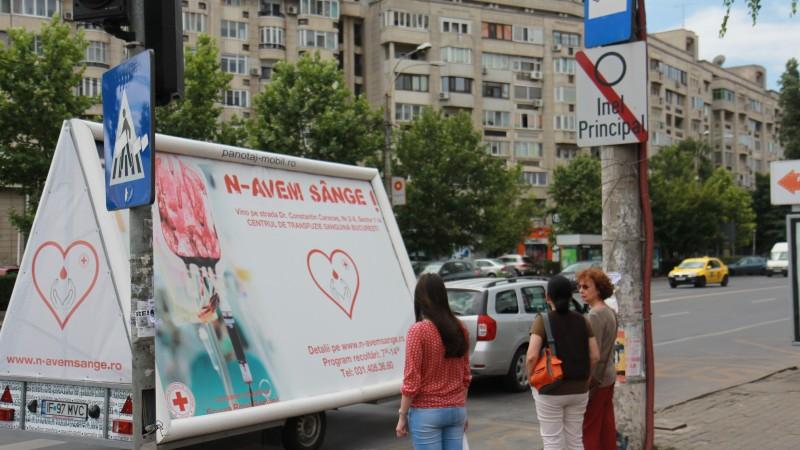 """Campania """"N-avem SANGE!"""" a demarat in Bucuresti si-n alte cateva orase din tara"""