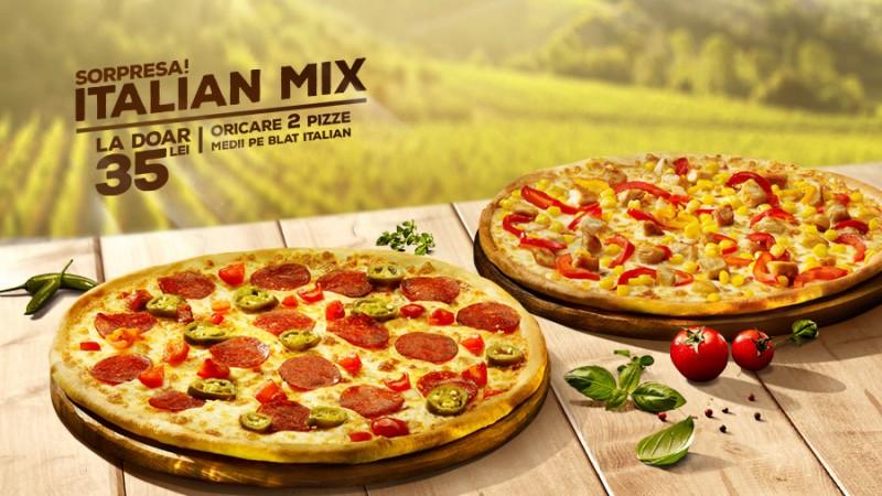 Oferta Italian Mix de la Pizza Hut Delivery aduce pofta de vacanță
