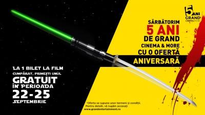 Grand Cinema & More sărbătorește cinci ani de film și evenimente culturale