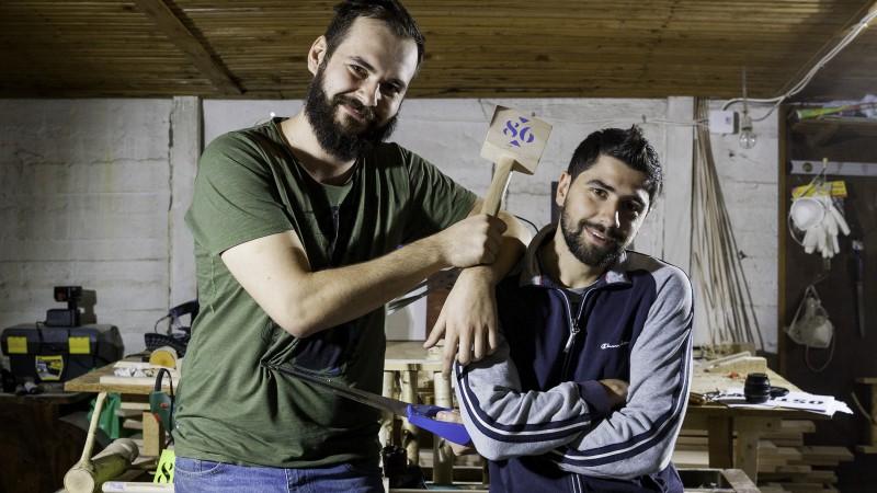 Artizanat cu lemn în colecții de fix 86 de piese