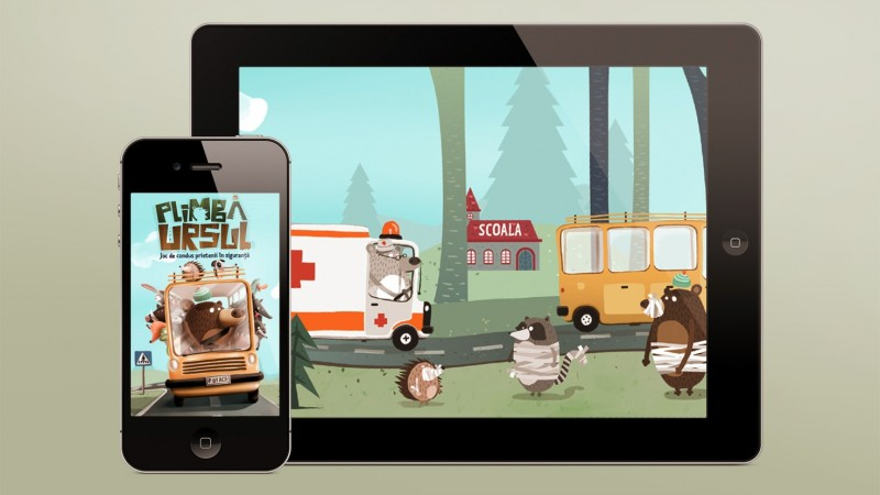 """""""Plimba Ursul"""" – primul joc de prevenire a vitezei excesive,in care copiii sunt implicati activ in siguranta rutiera"""
