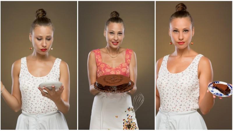 Atenție, concentrație mare de ciocolată și secrete. Adina Weiner: Într-o zi, nu mai știu care, mi-am propus să încep să fac câte un tort pe săptămână, să văd ce se întâmplă