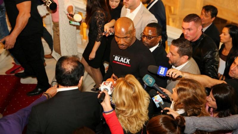 Mike Tyson a venit in Romania sa lanseze Black Energy