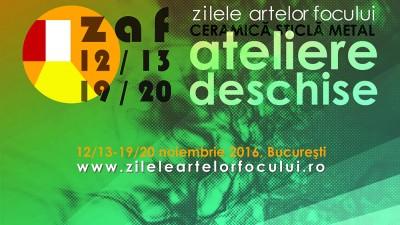 Zilele Artelor Focului. Ateliere Deschise de Ceramică, Sticlă, Metal | Ediția a II-a. București, 12/13 și 19/20 noiembrie 2016