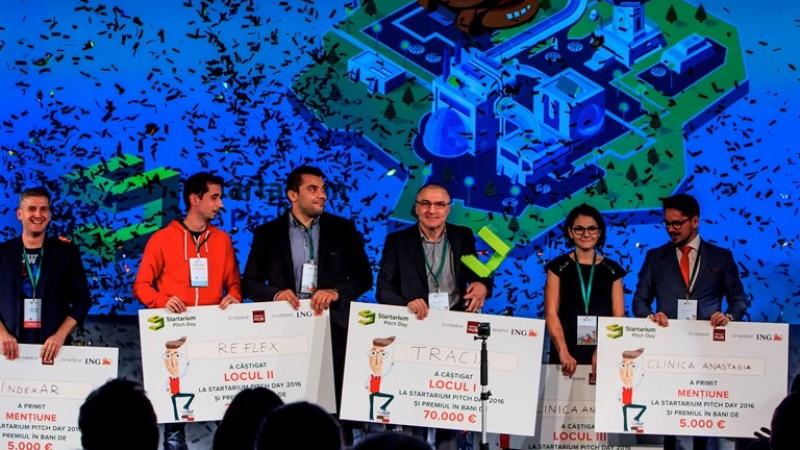 Startup-ul românesc Tracia a câștigat Marele Premiu de 70.000 de Euro la Startarium Pitch Day   Re.Flex, Clinica de Pediatrie Anastasia și IndexAR completează lista câștigătorilor