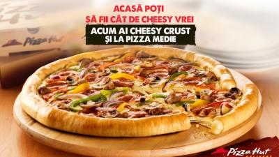 Cu Pizza Hut Delivery poti alege cat de cheesy vrei sa fii