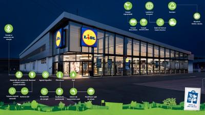 Lidl inaugureaza cel mai verde magazin din portofoliu, primul din zona Aviatiei