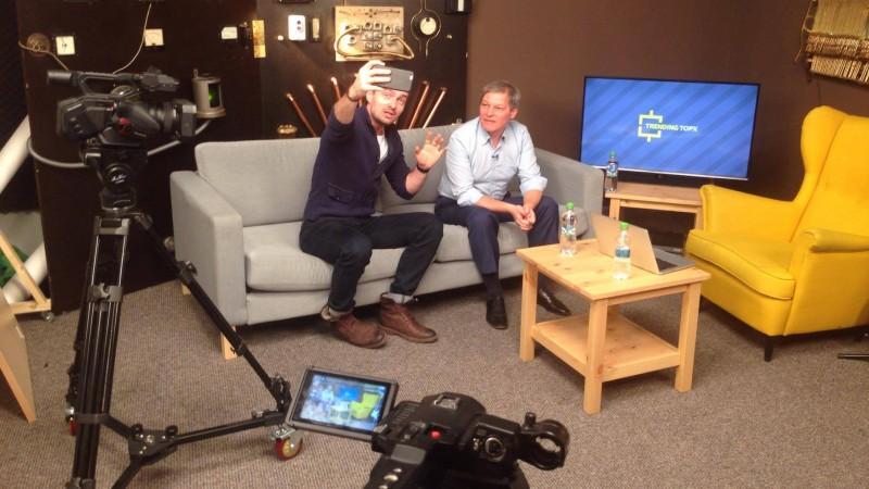 Primul vlogger intr-o discutie cu prim-ministrul