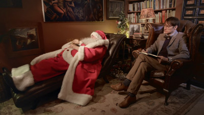 Moș Crăciun la psiholog