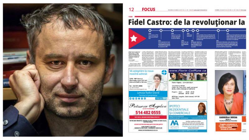"[Diaspora Times] 24 de Pagini Romanesti apar bilunar in Montreal. Viorel Anghel, coordonator: ""Printul este inca important in diaspora"""