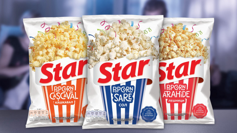 Star Popcorn și Ampro dau tonul distracției cu noul ambalaj