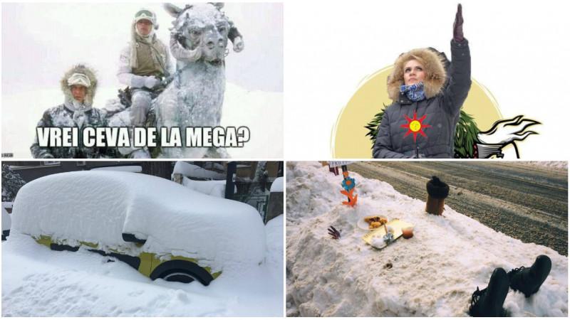 Iarna pe ulița internetului. Câte glume poți să faci cu zăpada?