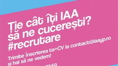 IAA Young Professionals recrutează noi membri