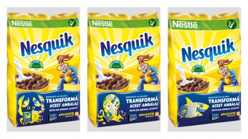Cerealele Nesquik® stimulează creativitatea copiilor cu noile ambalaje de cereale de mic dejun