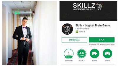 """Laurentiu Popa are """"Skillz"""". Aplicatie de Android care ascute logica"""
