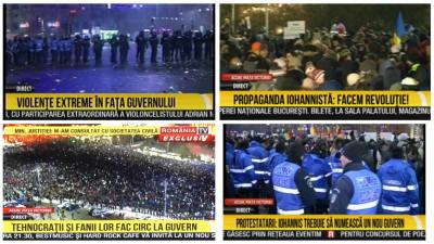 Protestul la RTV: Violențe extreme. Circ. Revoluție. Brandurile care s-au promovat la acest post