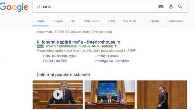Un anunț Google Adwords activ din neatenție. Freedom House Romania explică