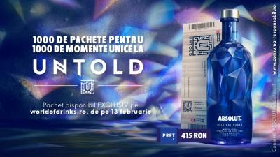 ABSOLUT te trimite la UNTOLD 2017 cu noua ediție limitată Absolut Facet
