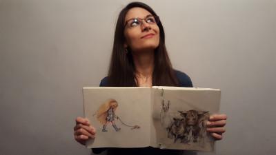 Alexandra Balan, ilustrator in Marea Britanie: Oamenii in general nu au habar cat de mult dureaza sa faci o animatie