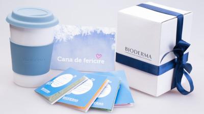 Cana de fericire Bioderma - un concept multi-senzorial de corporate gifting marca Perceptum