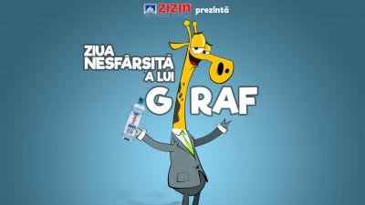 Ziua nesfârșită a lui Giraf -o alegorie interactivă prezentată de apa minerală ZIZIN și MullenLowe