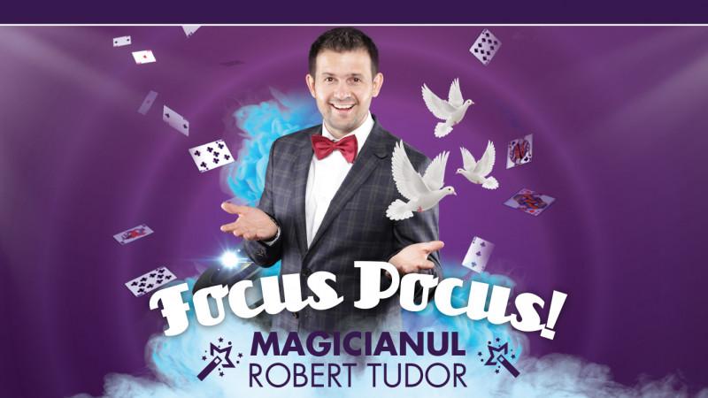 Focus Pocus, un spectacol imposibil și incredibil de magie.Magicianul Robert Tudor prezintă, la Grand Cinema & More, singurul spectacol educativ de magie pentru copii