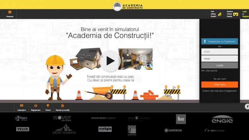 "Gamification-ul in constructii este posibil doar prin ""Academia de Constructii"""
