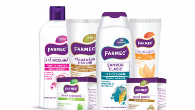 Farmec lansează o nouă gamă de produse pe bază de extracte naturale