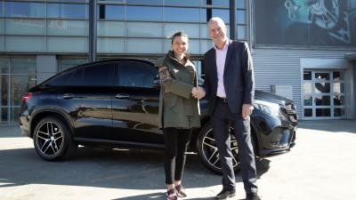 Cu ocazia aniversarii a 50 de ani de performante sportive si excelenta Mercedes-AMG,Simona Halep devine ambasador Mercedes-Benz in Romania