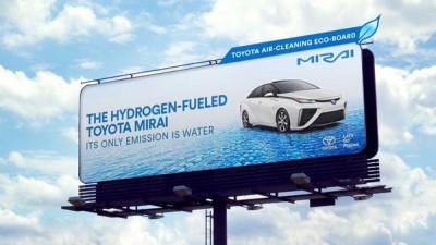 Toyota si panourile publicitare care curata aerul