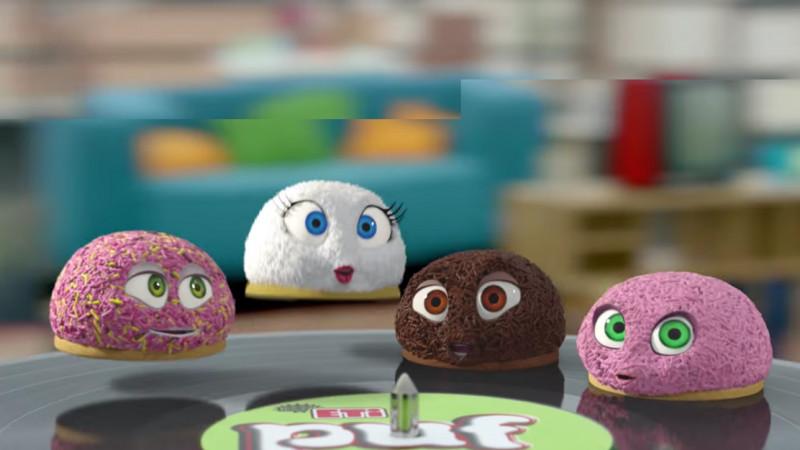 Pentru că biscuiții ETI PUF nu se mai satură de celebritate și nici fanii lor de ei, Ogilvy & Mather România a lansat un nou spot, Puf-Hop