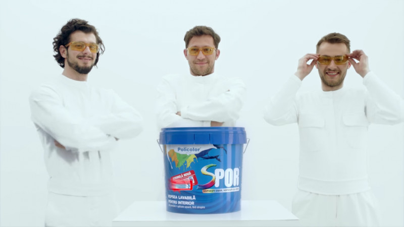 "Spor ""alb de Romania"" – de la tradiționalul românesc la contemporan. Noul spot TV de la Policolor"